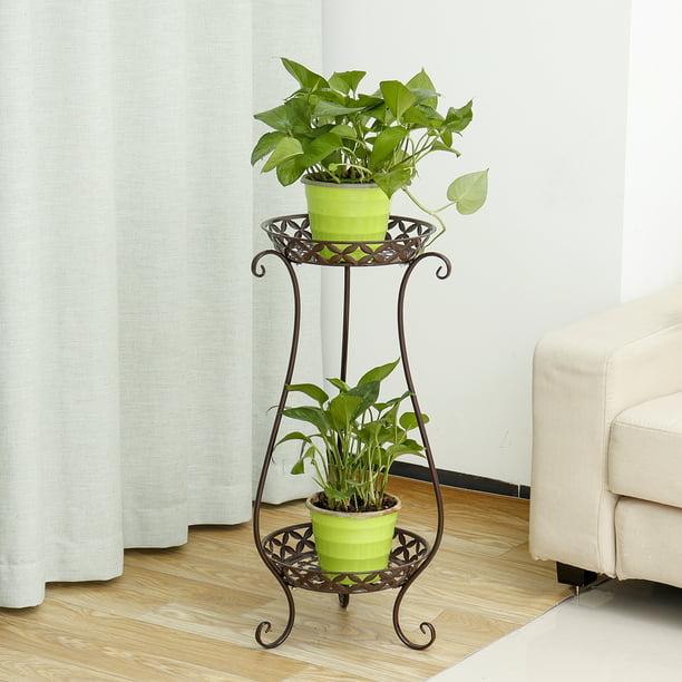 Home Garden Metal Plant Stand Display Shelf Decor Flower Pot Storage Rack  $
