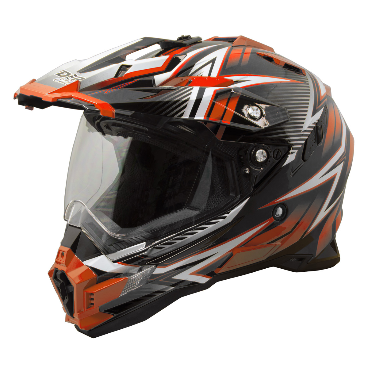 Raider Elite Eclipse Dual Sport Helmet MX ATV Dirt Bike Off Road Motorcycle DOT