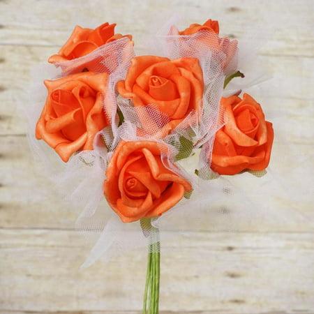 Beautiful Centerpieces (72 Beautiful Silk Roses Wedding Bouquet Vase Centerpiece Floral Decor -)