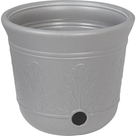 Suncast 300 Foot Heavy Duty 5 Gallon Decorative Garden Hose Pot, Gray Speckle ()