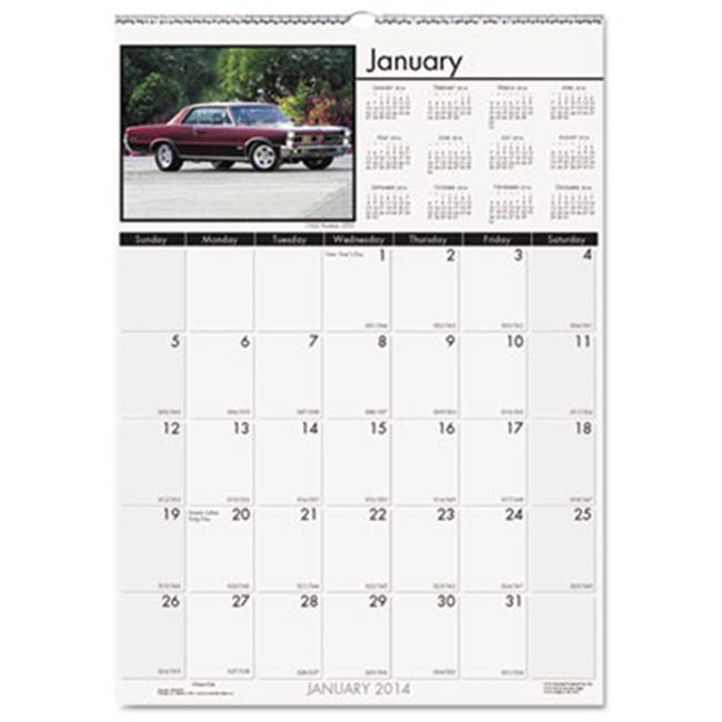 House Of Doolittle 3771 2016 Classic Cars Monthly Wall Calendar, 12 x 12 inch