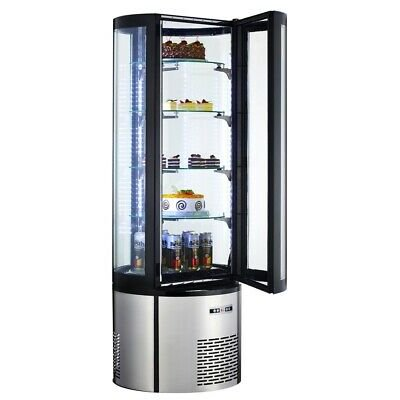 Marchia MVSR400, 69″ Refrigerated Vertical Curved Glass Cake Display
