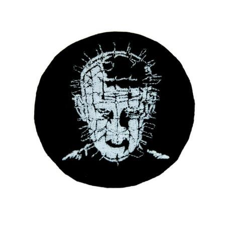 Pinhead Hellraiser Patch Iron on Applique Alternative Clothing Cenobite - Hellraiser Pinhead Mask
