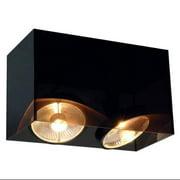 SLV Lighting  7117232U  Ceiling Fixtures  Acrylic Box  Indoor Lighting  Flush Mount  ;Translucent Black