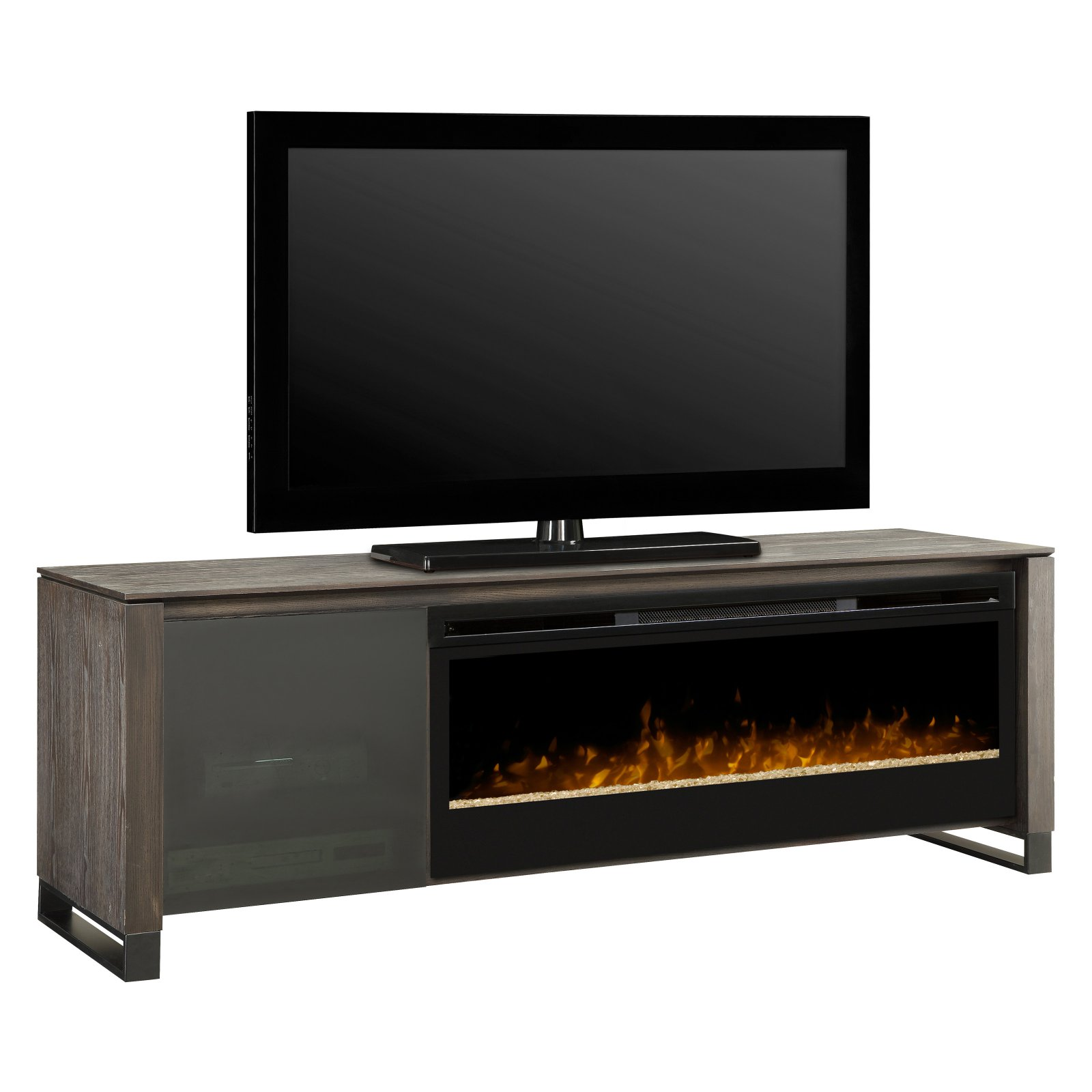 Dimplex Howden Media Console Electric Fireplace, Black