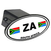 "Za South Africa Country Euro Auto Oval 2"" Oval Tow Trailer Hitch Cover Plug Insert"