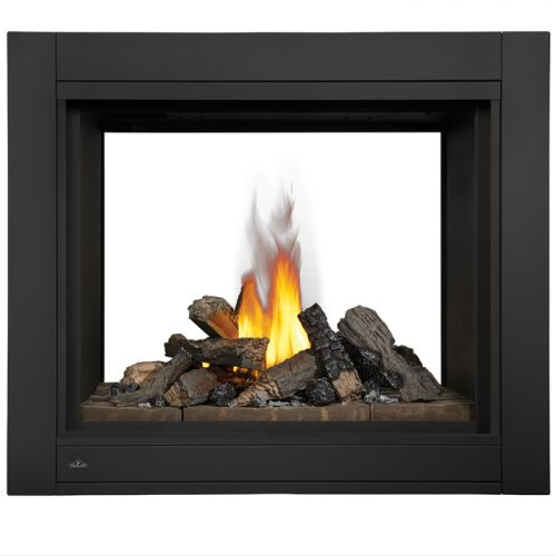 See Thru Clean Face Fireplace with Glass Natural Gas