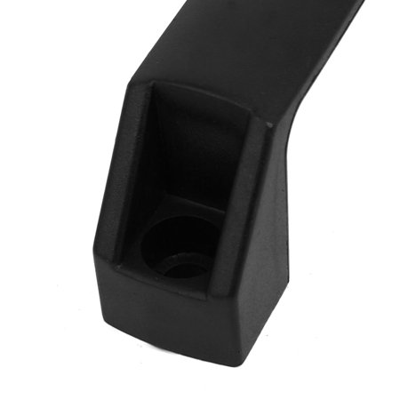 180mmx28mmx44mm Plastic Rectangular Section Pull Handle Grip Black - image 1 of 3