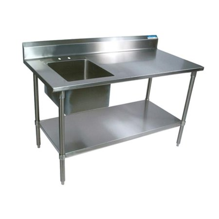Stainless Steel Table Sink : ... 250491 Stainless Steel Prep Table, Sink Side Left - Walmart.com
