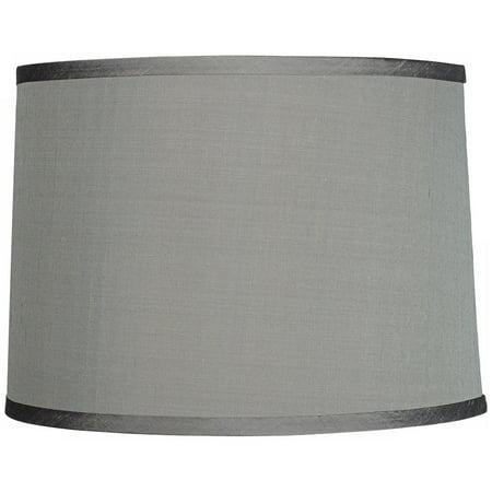 Brentwood Platinum Gray Dupioni Silk Lamp Shade 13x14x10 (Spider)