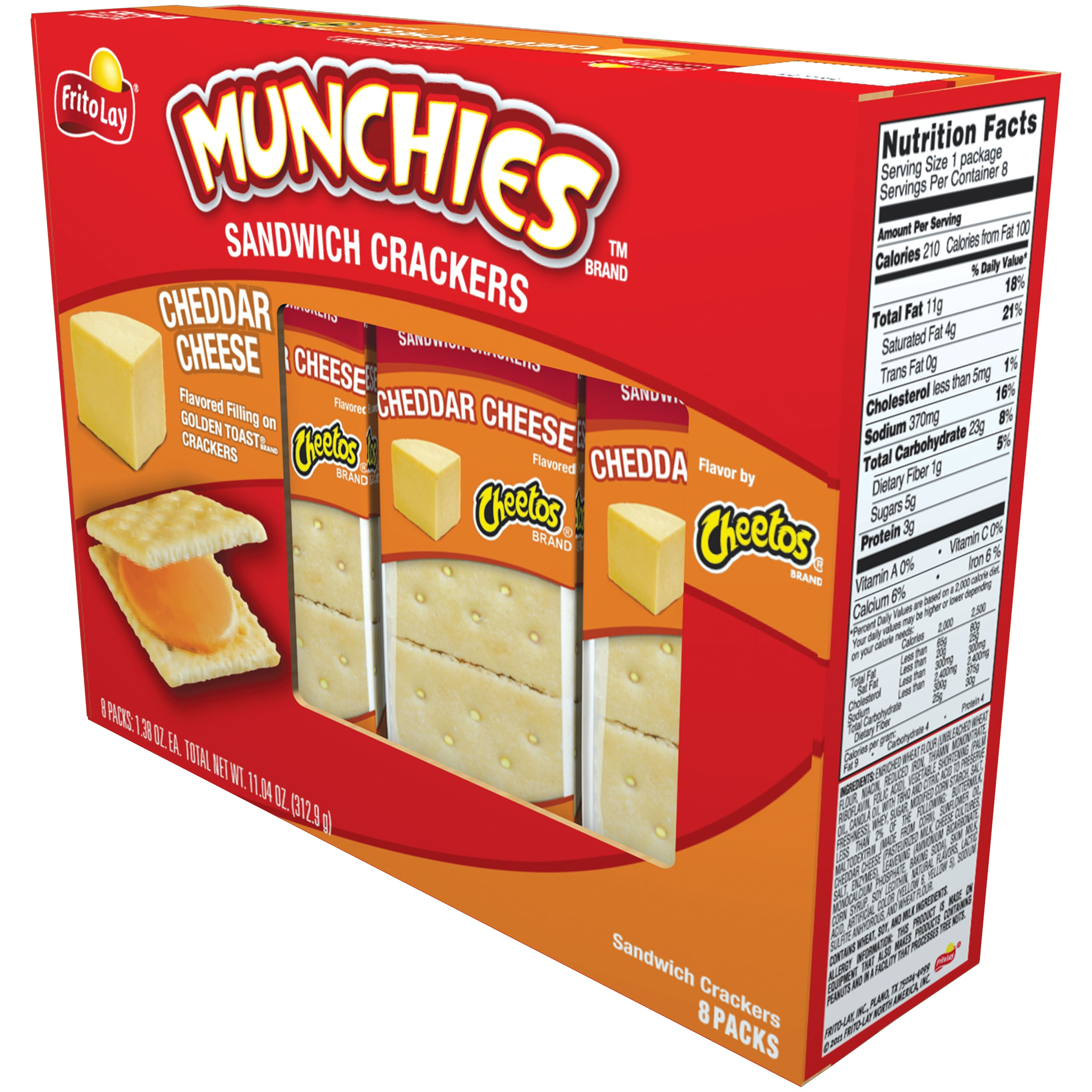 Munchies Cheddar Cheese Sandwich Crackers, 8 Packs by Frito-Lay, Inc.