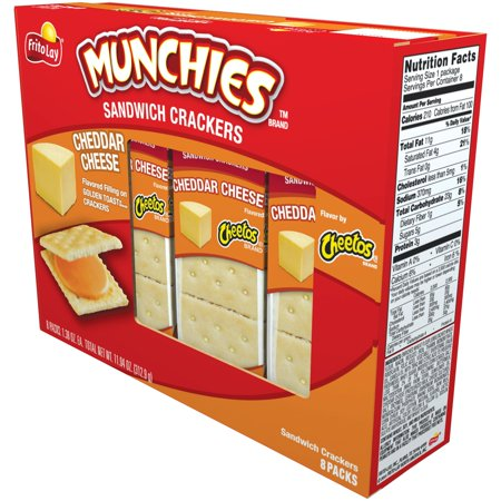 Munchies Cheddar Cheese Sandwich Crackers  8 Packs