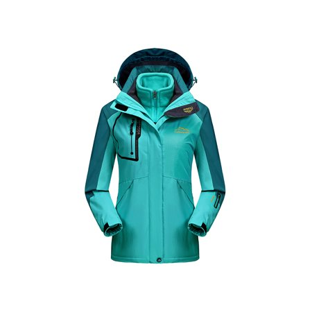 Womens Waterproof Ski Jacket 3-in-1 Windbreaker Winter Coat Fleece Inner for Rain Snow Outdoor (Best Cheap Snow Jackets)