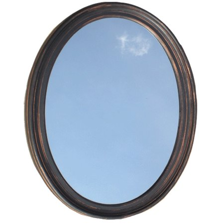 Bathroom Mirror Vanity Round Oval Framed Wall - Flame Oval Mirror