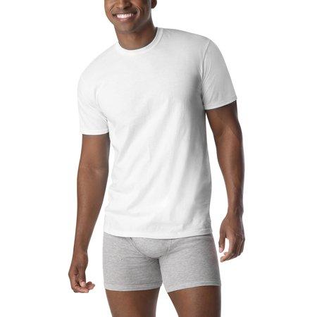 f0f925c8397a Hanes - Men's ComfortSoft White V-Neck T-Shirt 6 + 3 Free Bonus Pack -  Walmart.com