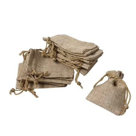 Linen Gift Bag - US New 50PCS Bag Natural Linen Pouch Drawstring Burlap Jute Sack Gift Bags 180mm x 130mm