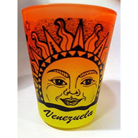 Venezuela Sun Neon Orange Neon Yellow Shot Glass