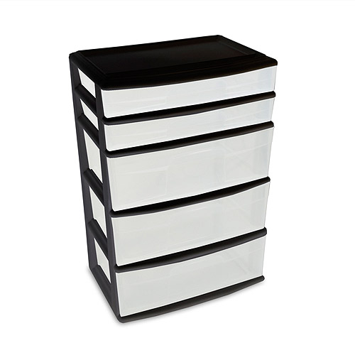 Homz 5-Drawer Wide Cart