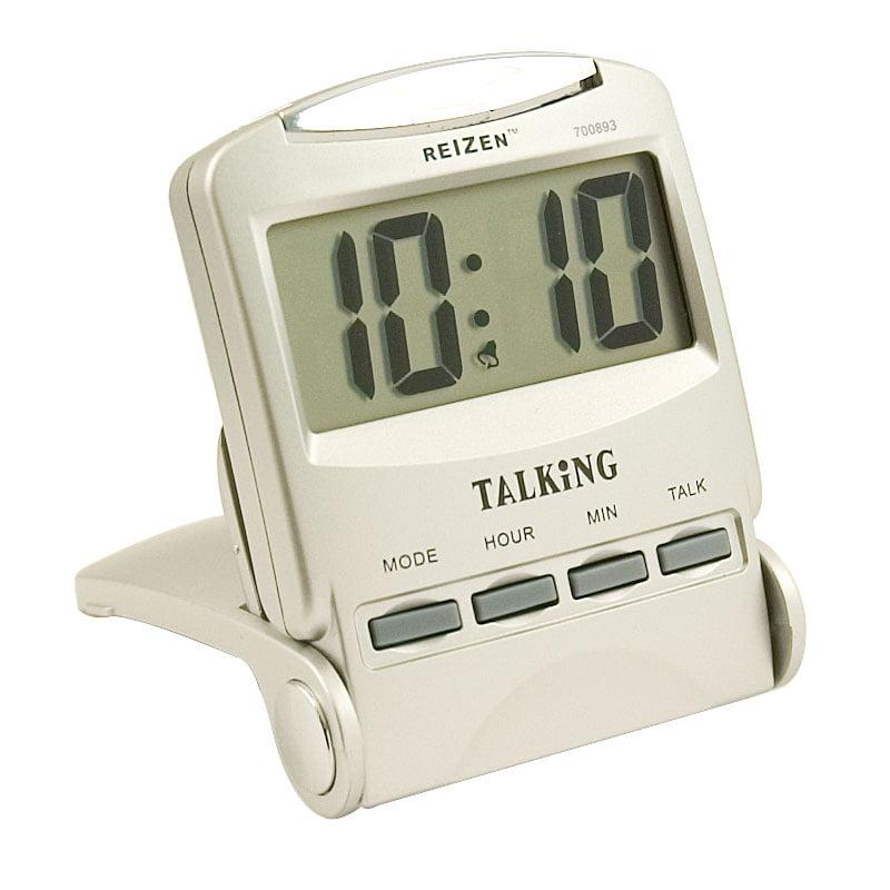Часы с речевым выходом для людей с нарушенным зрением.