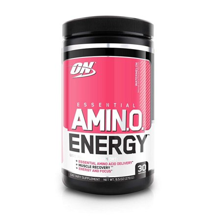 Optimum Nutrition Amino Energy Pre Workout + Essential Amino Acids Powder, Watermelon, 30