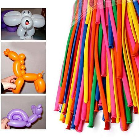 200 PCS Latex Twisting Balloons 260Q Magic Balloons Assorted Color Long Balloons (Balloons Twisting)