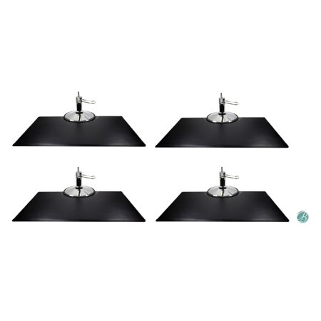 Berkeley Rectangle Salon Mat 3' x 5'  EXTRA-THICK  (Set of 4) BLACK Anti-fatigue  Mat  for Salon or Barber Shop ()
