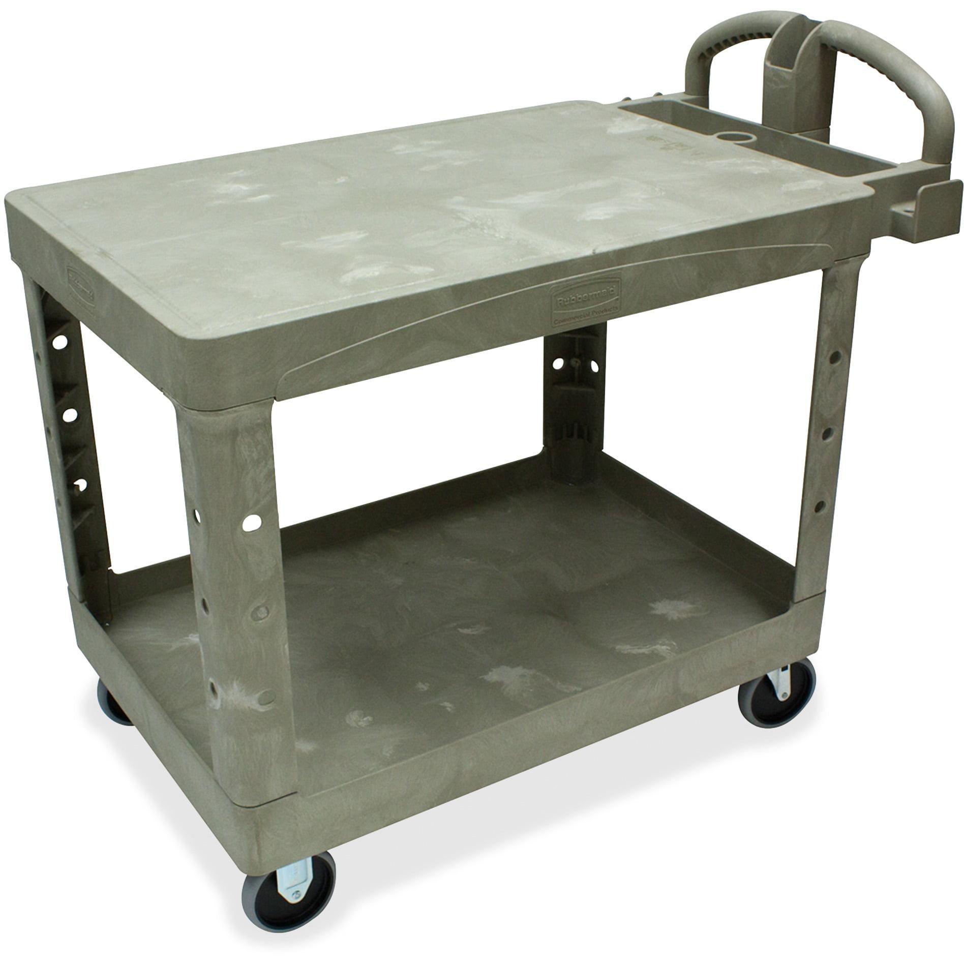 "Rubbermaid Commercial, RCP452500BG, 26"" Flat Shelf Utility Cart, 1 Each, Beige"