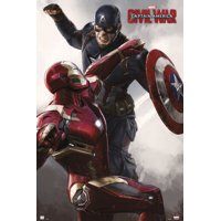 "Captain America 3: Civil War - Marvel Movie Poster / Print (Battle - Iron Man Vs. Captain America) (Size: 24"" x 36"")"