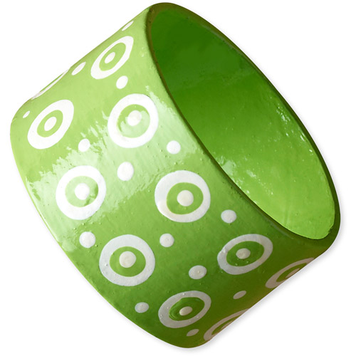 Aid to Artisans for Full Circle Exchange Painted Papermache Large Bangle