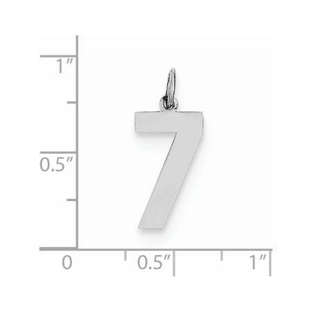 925 Sterling Silver Medium Polished Number 7 - image 2 of 2