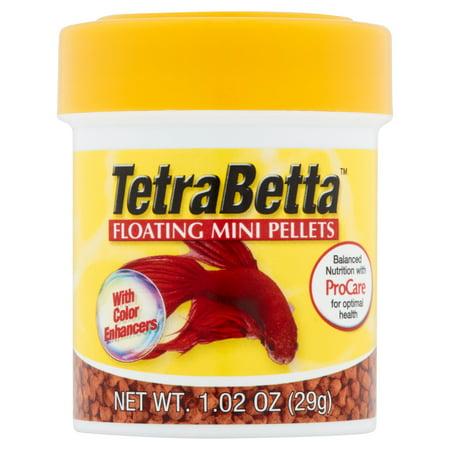 Tetrabetta floating mini pellets for bettas oz for Betta fish food walmart