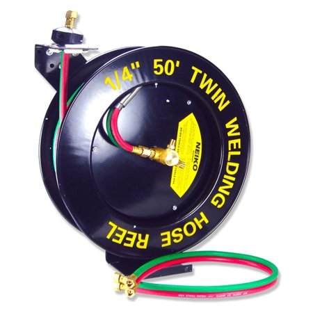 "1/4"" X 50 Foot Automatic Retractable Welding Reel Welding Hose Included"