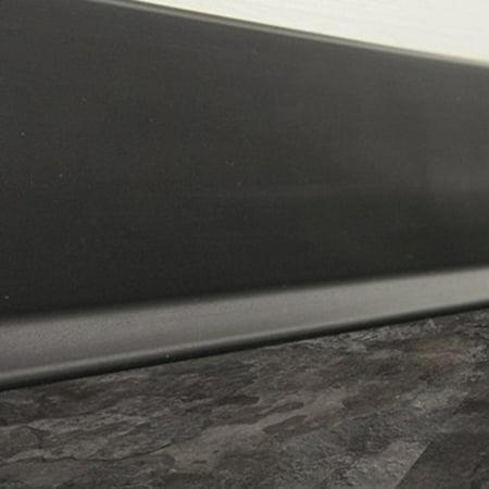 Mats Inc  Cove Base Floor Tile Trim, Black, 4