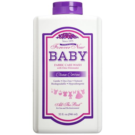 Forever New 32oz Baby Liquid Clean Cotton Scent Fabric Care Wash 32 ounce Cherry 32 Ounce Liquid