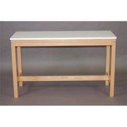 SMI M1848-28RF Medium Oak Wood Reference Table, 18 X 48 in.