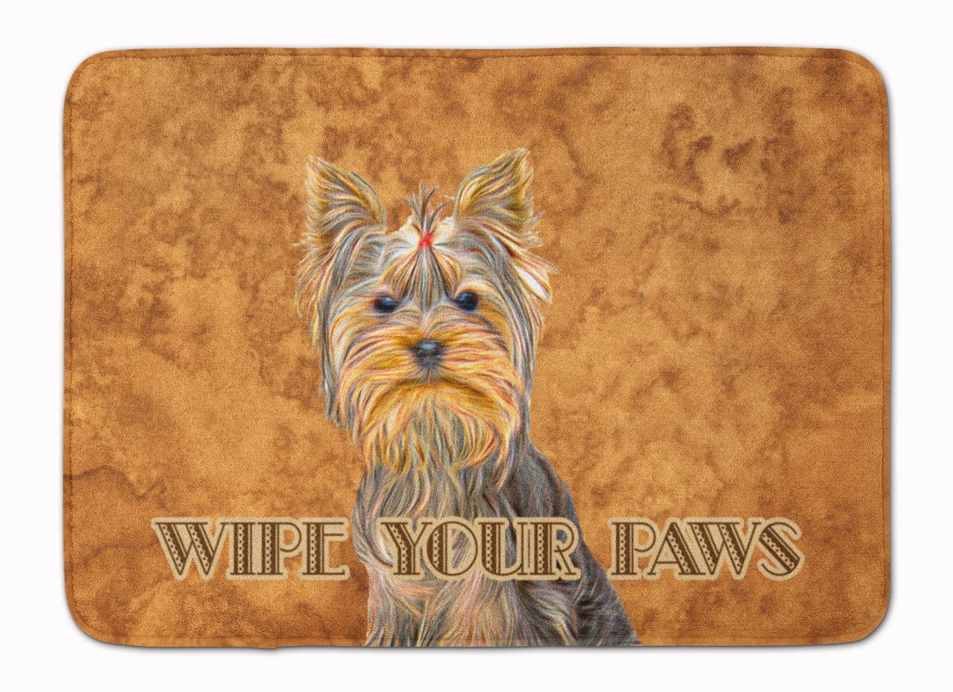 Yorkie Yorkshire Terrier Wipe Your Paws Machine Washable Memory Foam Mat Walmart Com Walmart Com