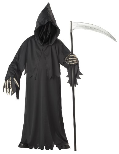 Soul Reaper Costume Deluxe Adult Mr Grim Halloween Fancy Dress Outfit Medium