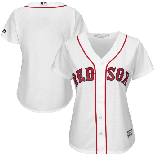 Boston Red Sox Majestic Women's Plus Size Cool Base Jersey - White