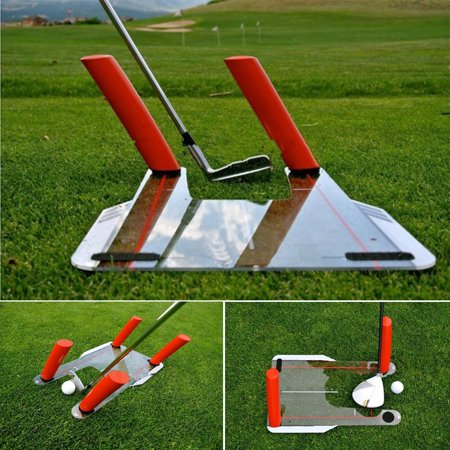 Golf Swing Speed Trainer Trap Base Training+4 Speed Rods+Protable Storage Bag Putting Plane Path Practice Aid Outdoor Golfclub Exercise Fitness Equipment (18.1 x 12 x 0.12 Inches) ()