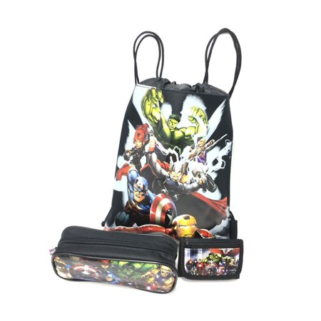 Marvel Avengers Character Authentic Licensed Wallet, Sling Bag, Pencil Case (Character Slings)