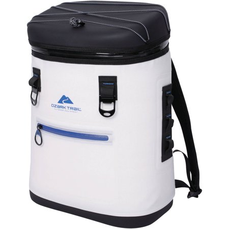 Ozark Trail Premium 20 Can Backpack Cooler, White
