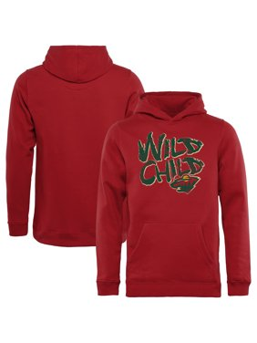 Minnesota Wild Youth Hometown Collection Wild Child Pullover Hoodie - Red