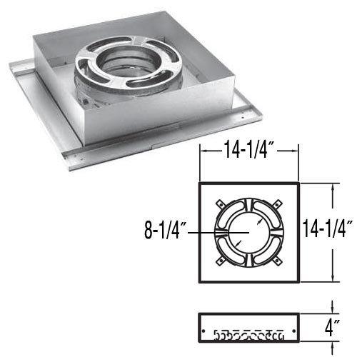 """9247N 8"""" DuraPlus Flat Ceiling Support Box"""