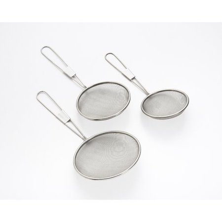 3 Piece Strainer Set - Cook Pro 3 Piece Stainless Steel Mesh Strainer Set