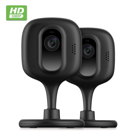 2-Pack Zencam 1080p WiFi Camera, Indoor Security Wireless IP Camera, Two-Way Talk, Night Vision for Home, Office, Baby, Pet Cam with MicroSD & Cloud Storage, Supports 2.4Ghz, Black (2PACK-E2B)