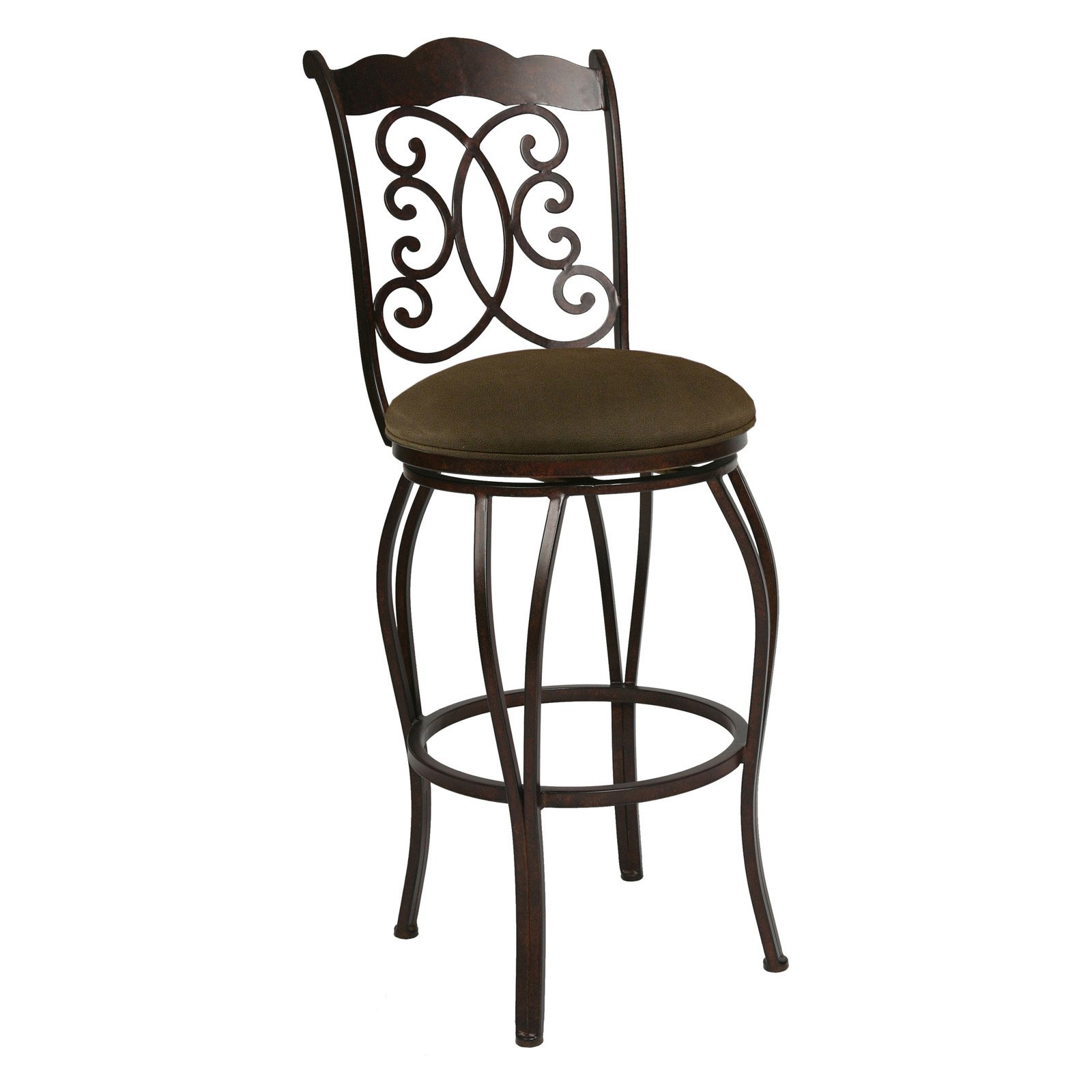 "Pastel Furniture Athena 30"" Swivel Bar Stool in Florentine Coffee by Impacterra"