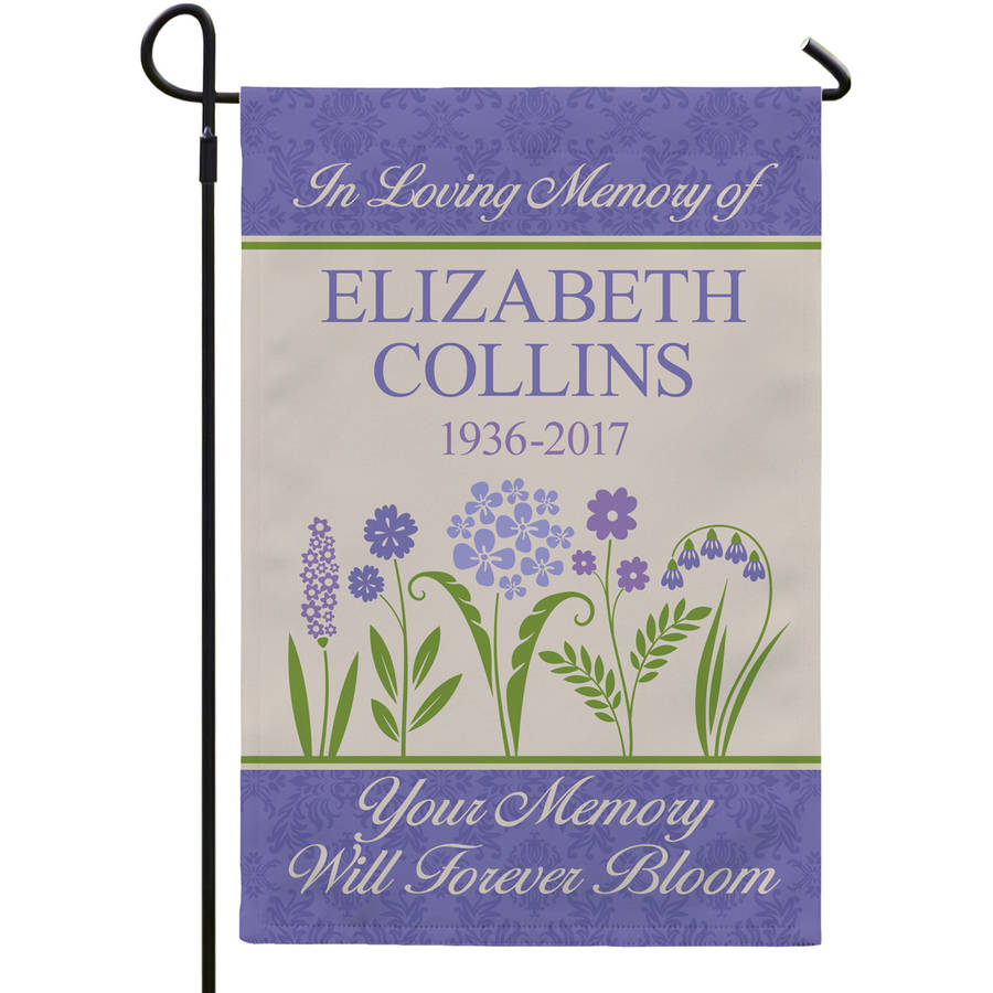 Personalized Memories Bloomed Garden Flag, Available With or Without Stake