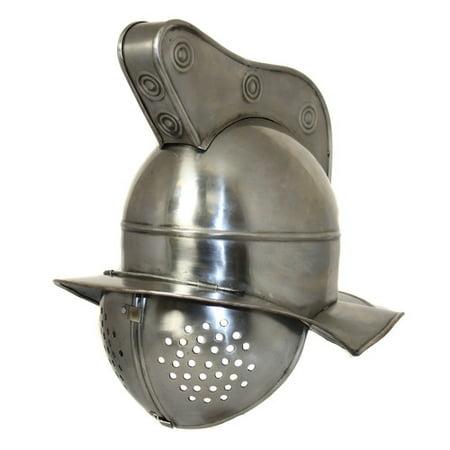 EC World Imports Antique Replica Roman Gladiator Fighter Visor Helmet (Roman Helmets)