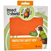 Insect Shield Protective Safety Vest Small, Orange