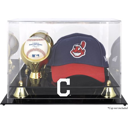 (Cleveland Indians Acrylic Cap and Baseball Logo Display Case)